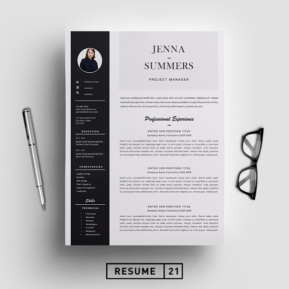 Creative Resume Design Examples: Resume Template / CV Template