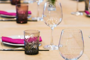 Dinning table set up