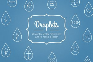 Droplets Water Drop Vector Icons
