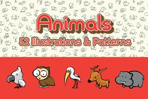 52 Animals Illustration + Pattern