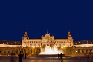 Plaza de Espana at Night in Seville
