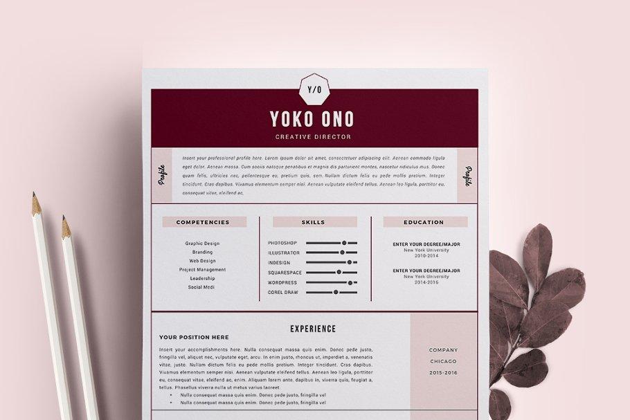 Designer Resume Template Cv Creative Resume Templates