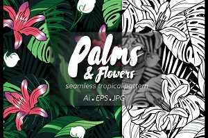 P&F seamless tropical pattern