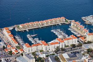 Marina In Gibraltar City From Above