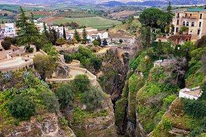 Ronda Town at El Tajo Gorge