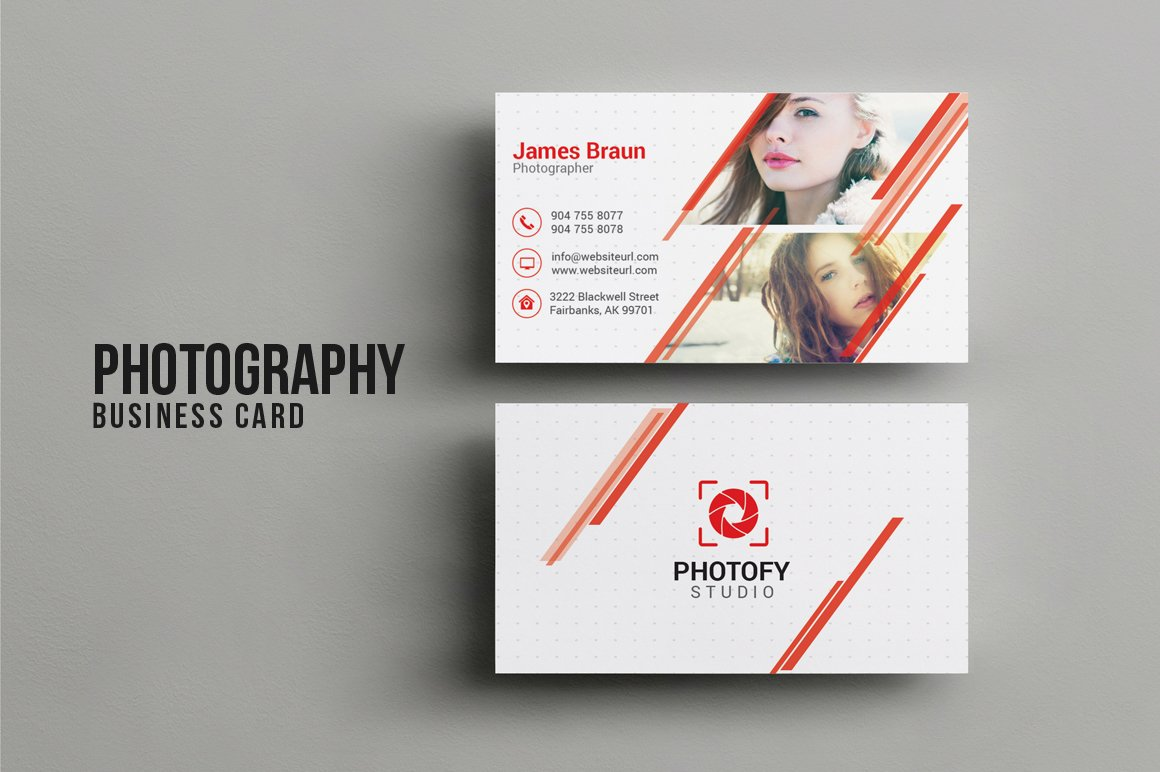 Photography business card business card templates for Portrait business cards