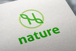 Nature | Letter N | Logo Template