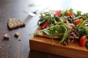 Healthier pizza