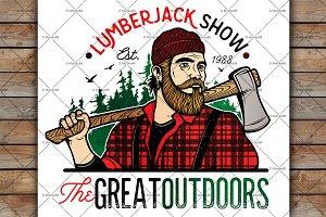 Lumberjack Template Logo.
