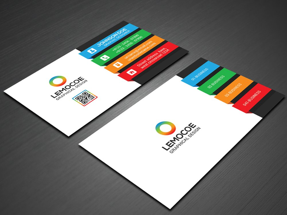 Colorful business cards etamemibawa colorful business cards wajeb Gallery