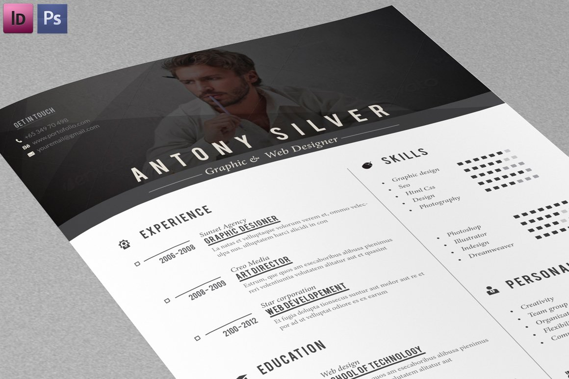 Resume  Cover letter   Cover Letter Templates   Creative