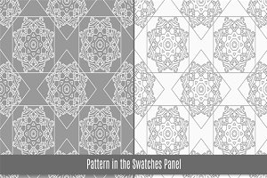 6 Arab tiles seamless pattern
