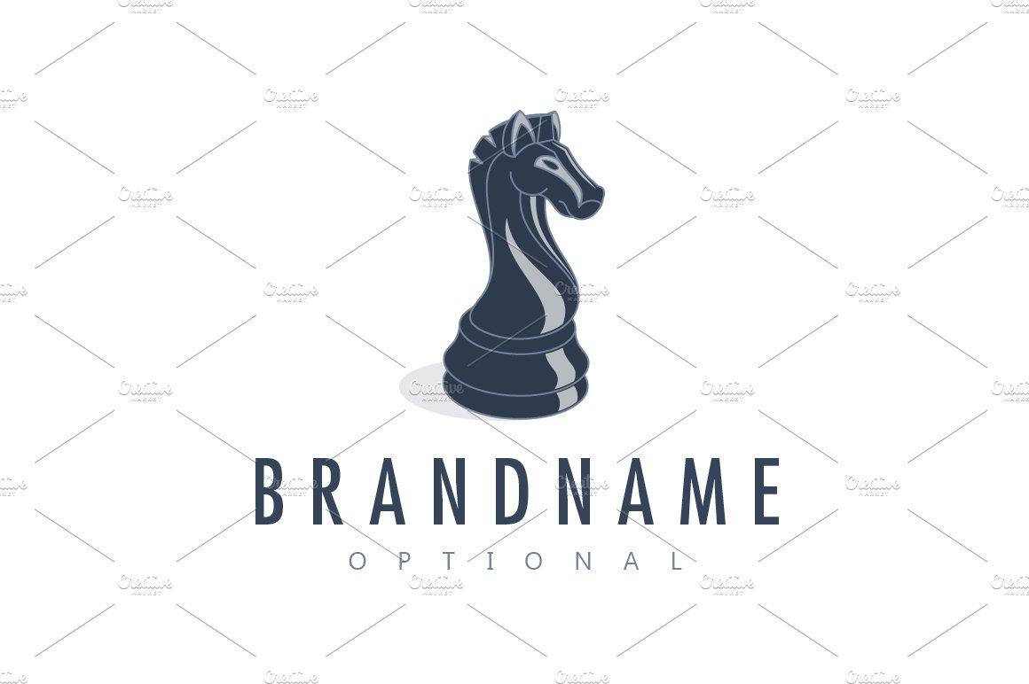 Black knight chess logo logo templates creative market biocorpaavc Gallery