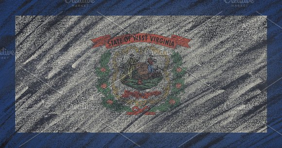 West Virginia state flag. in Illustrations