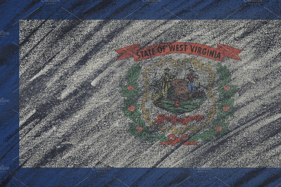 West Virginia state flag. in Illustrations - product preview 8