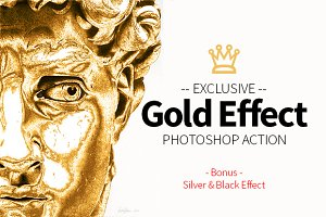 Gold Effect Photoshop Action