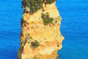 Yellow cliffs near beach