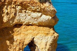 Yellow cliff near coast