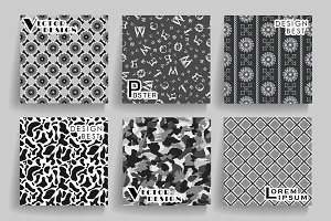 Vector vintage seamless backgrounds