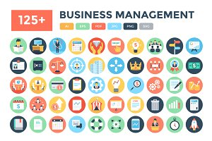 125+ Flat Business Management Icons