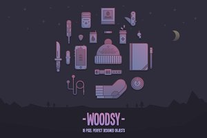 Woodsy camping pack