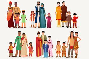 International traditional people set