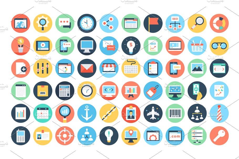 150+ Flat Digital Marketing Icons   Custom-Designed Icons ...