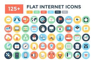125+ Flat Internet Icons