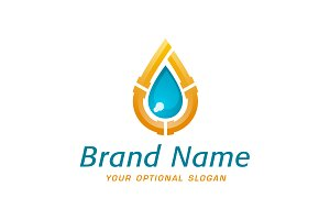 Plumbing Water Drop Logo