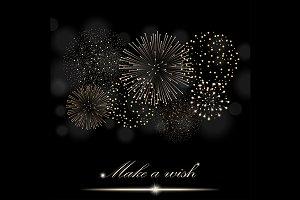 Golden firework show