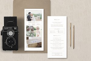 Rack Card Template for Photographers