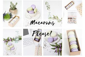 Macarons Photo Bundle & Mockups