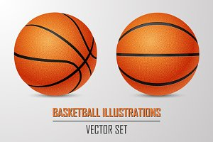 Basketball illustrations.