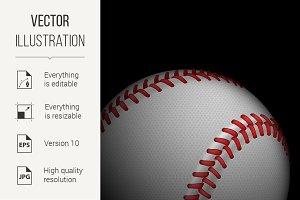 High detailed baseball