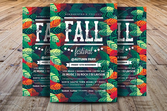 fall festival flyer template flyer templates creative market