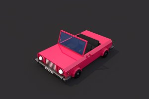Low Poly Cabriolet