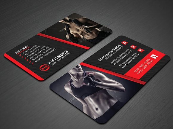 Fitness business cards etamemibawa fitness business cards cheaphphosting Image collections