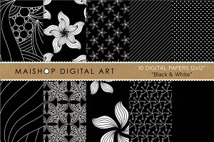 Digital Papers - Black & White