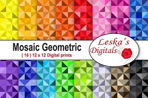 Colorful Mosaic Geometric Pattern