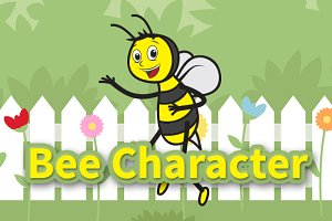 Bee Cute Character Vector