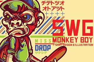 SWG Monkey Boy Illustration
