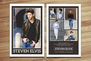 Modeling Comp Card Template-V377
