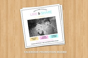 Facebook Promo Marketing Board-V379