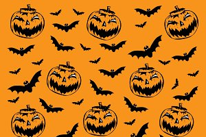 Happy Halloween background pumpkin