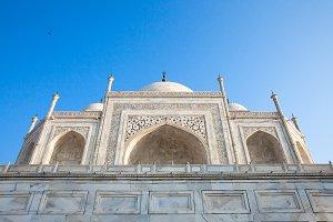 The close view of Taj Mahal