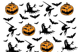 Happy Halloween background pattern