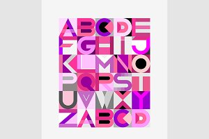 Vector Geometric Font Design