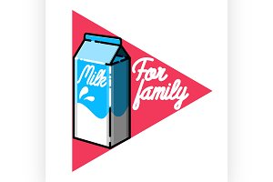 Color vintage Milk emblem