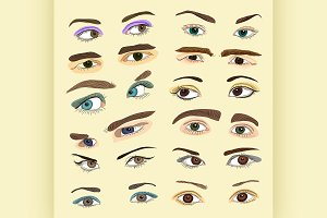 Colored Eyes set