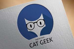 Cat Geek Logo